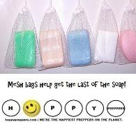 Mesh bags help get at the last bit of soap
