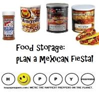 Food storage: plan a Mexican fiesta