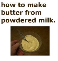 How to make butter from powdered mil