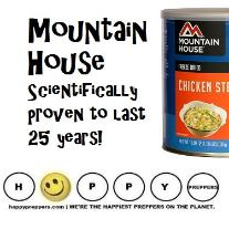Mountain House is scientifically proven to last 25 years
