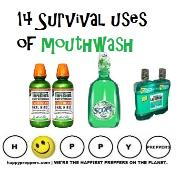 Fourteen Survival uses of Mouthwash