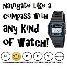 How to navigate like a compass with any kind of watch