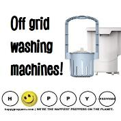 Off grid washing machines