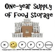 One year supply of food storage