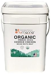 Organic freeze dried cooked chicken