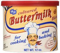Cultured buttermilk powder