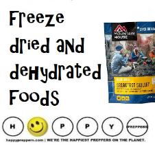 freeze dried and dehydrated foods for preppers