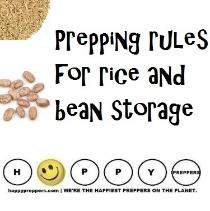 Prepping rules for rice and bean storage