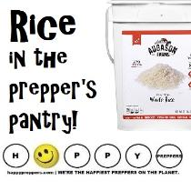 Rice in the prepper's pantry