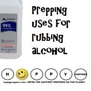 Prepping Uses for Rubbing alcohol