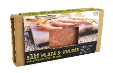 Himalayan salt plate and  holder