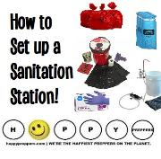 How to set up a sanitation station