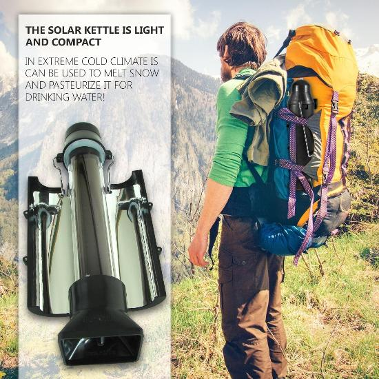 Solar thermos-like solar kettle pasteurizes water