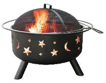 Landmann fire pit with stars