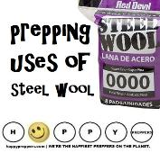 Prepping uses of steel wool