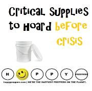 Crtical supplies to hoard before crisis