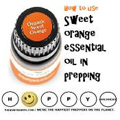How to use sweet orange essential oil in prepping
