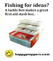 Tackle box for first aid