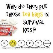 why do they put tea bags in survival kits