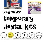 How to use temporary dental kits