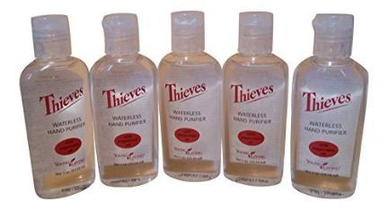 Thieves Hand Sanitizer contains Cinnamon Essential Oil