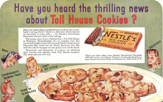 Toll House cookie history