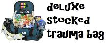 Deluxe stocked trauma bag