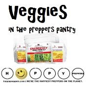Veggies in the prepper's pantry