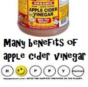 Many benefits of apple cider vinegar