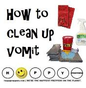 How to clean up vomit