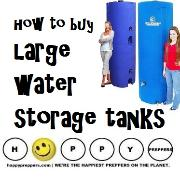 How to buy large water tanks