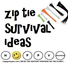 Survival uses of zip ties ~ How to use cable ties in prepping and survival